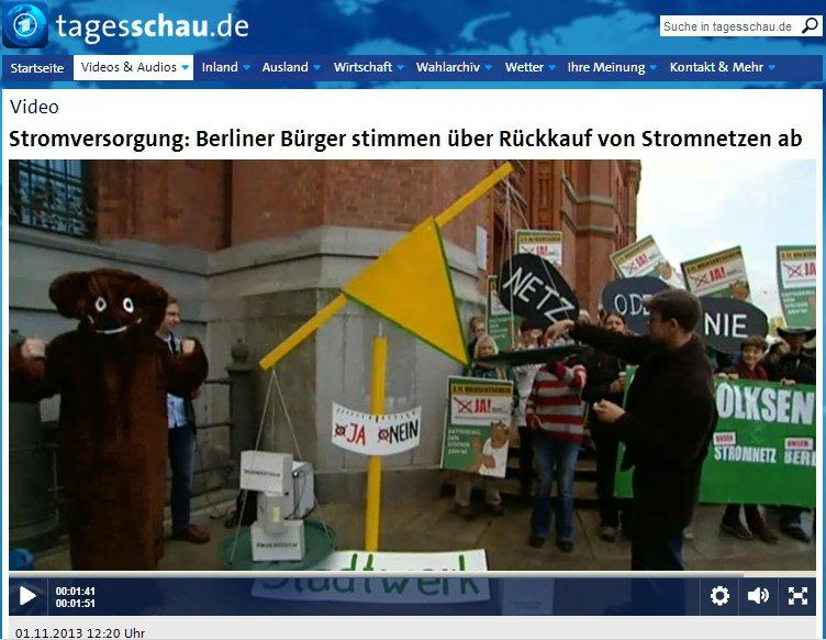 ARD-Tagesschau-Bericht